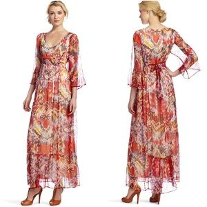 Lucky Brand Bell Sleeves Maxi Dress